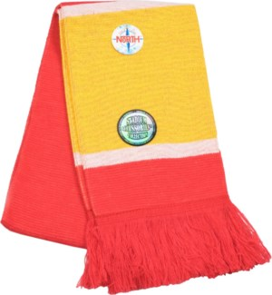 Scarf with Fringe Red/Gold/White  - Stadium Series