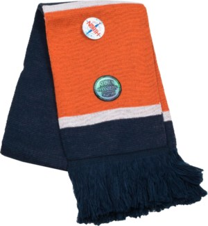 Scarf with Fringe Navy/Orange/White  - Stadium Series