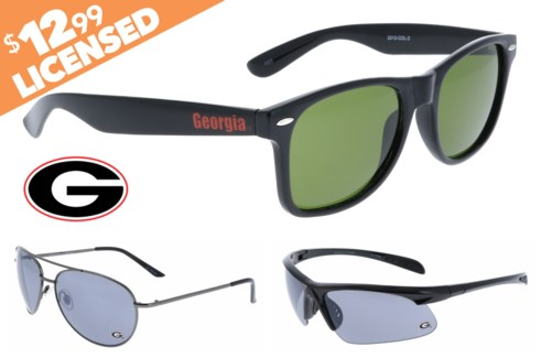 Georgia NCAA Sunglasses Promo