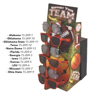 Licensed NCAA Sunglasses with Counter Display