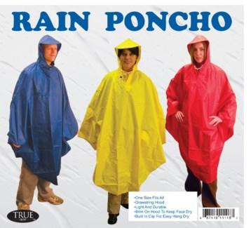 Hooded Rain Poncho