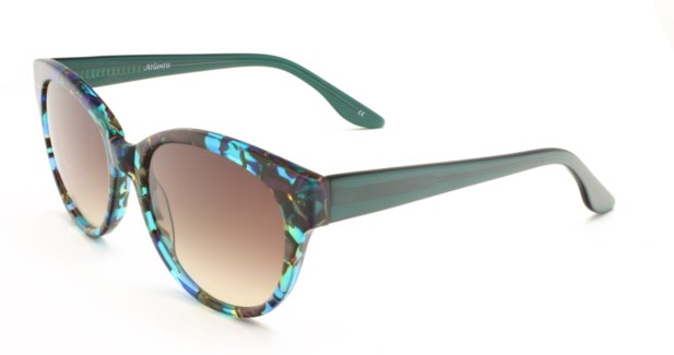 Atlantis Luxury Handmade Sunglasses (Brown/Blue/Green Pattern)