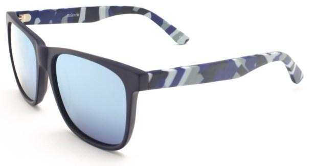 Atlantis Luxury Handmade Sunglasses (Matte Solid Blue)