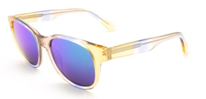 Atlantis Luxury Handmade Sunglasses (Crystal Blue Gold)