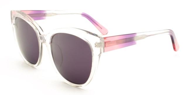 Atlantis Luxury Handmade Sunglasses (Crystal with Pink/Purple/Crystal)