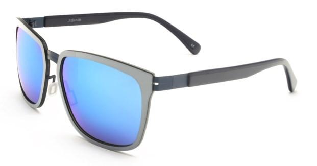 Atlantis Luxury Handmade Sunglasses (Silver/Matt Blue)