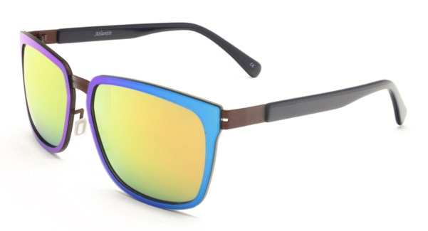 Atlantis Luxury Handmade Sunglasses (Blue/Matt Brown)