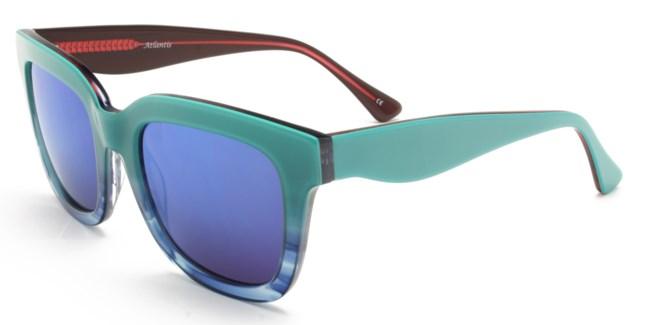 Atlantis Luxury Handmade Sunglasses (Blue-Blue Stripe/Red-Blue Stripe)