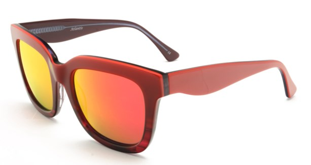 Atlantis Luxury Handmade Sunglasses (Red-Red stripe/Blue-Red Stripe)