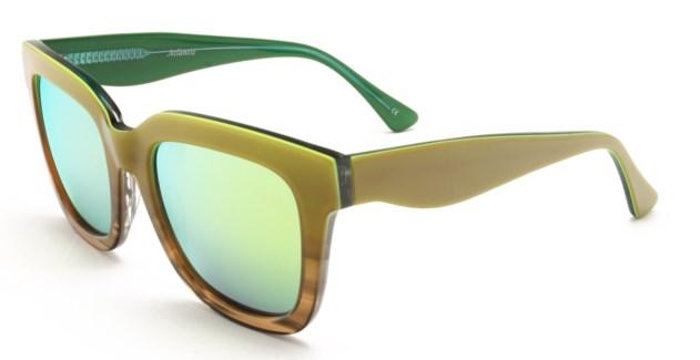 Atlantis Luxury Handmade Sunglasses (Green-Brown Stripe/Green-Stripe)