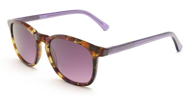 Atlantis Luxury Handmade Sunglasses (Purple Pattern)