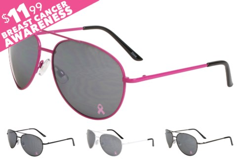 Aviator Sunglasses National Breast Cancer Foundation