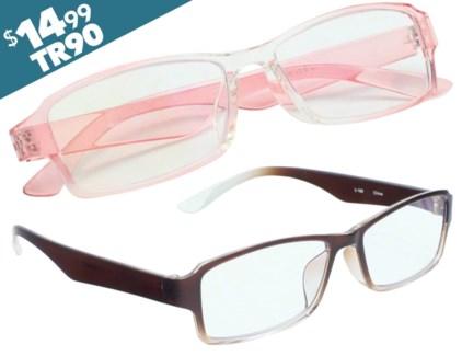 iShield Anti Reflective Coated Reading Glasses - Stylish half Frame
