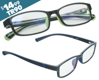 iShield Anti Reflective Reading Glasses - Men's Double Injection Frame