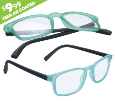 iShield Anti Reflective Clear Lens for Kids and Teens- Rectangle Frame