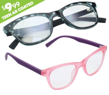 iShield Anti Reflective Clear Lens for Kids and Teens - Retro