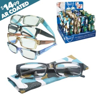iShield Camo Reading Glasses with Matching Case - Cassidy