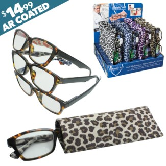 Ishield Wild Leopard Reading Glasses with Matching Case - Savannah