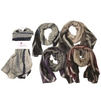 Bernadette - Scarf with Abstract Design