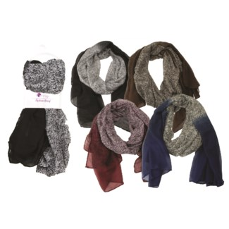 Louise - Scarf with Solid Fade Design