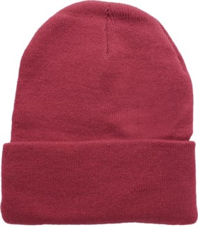 Solid Colored Beanie - Maroon