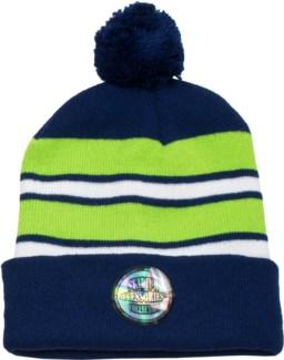 Pom Beanie Blue/Green/White - Stadium Series