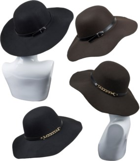Round Rim Floppy Hat - Fall Fashion - Women's