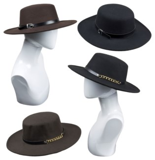Round Rim Hat - Fall Fashion - Women's