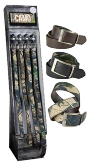 Camo Belts Shipper - 48pcs