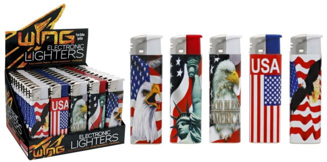 US Flag Electronic Lighter