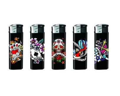 Black Tattoo Electronic Lighter