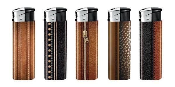 Leather Design Electronic Lighter