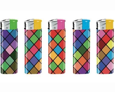 Grid Colorful Electronic Lighter