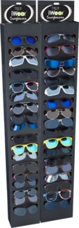 iWear Sunglasses with Black End Cap Display - 144pc