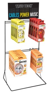 True Tech EMOJI Tech Accessories Counter Display 24 pcs