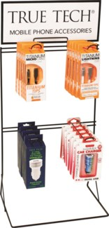 True Tech Tech Accessories Counter Display - Cables and Car Chargers