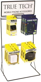 True Tech Tech Accessories Counter Display - Wall Chargers and Power Banks