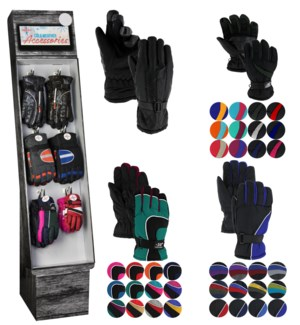 Ski Gloves Assorted Display