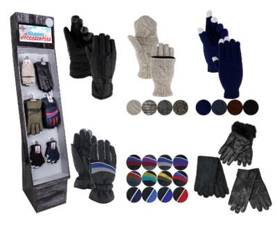 Men's Gloves Assortment Display