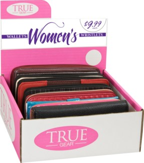 Women's Wallet 6pc Counter Display