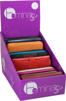 Women's Wallet 24pc Counter Display