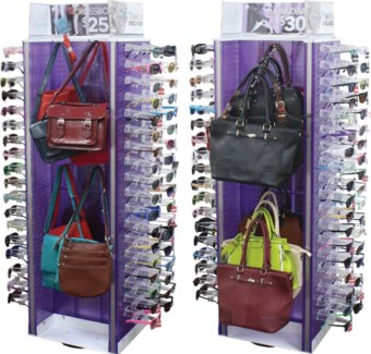Fashion Accessories for Her Full on 108 pc Spinning Floor Display