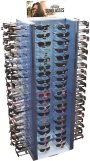 iShield Premium Sunglass Floor Spinner - 144pc