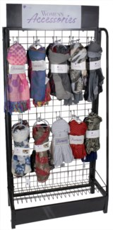 Assorted Scarves Endcap Display - 63pc