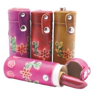 Handmade Lipstick Holder Leather Keychains
