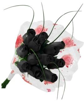Black Wooden Roses